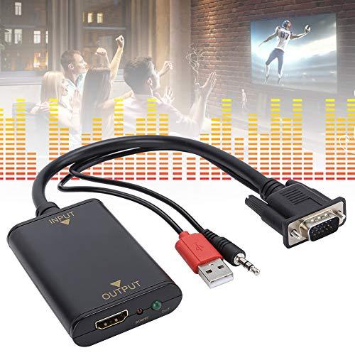 jadenzhou Excelente Rendimiento VGA a convertidor de Video Cable USB, ABS Rápido para Instalar Puerto USB Convertidor de Video, para Audio Vedio