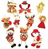 Adornos decoración colgante muñecos para árbol de Navidad 10...