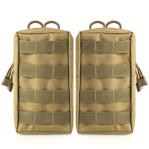 Yinuoday 2Pack Tactische Molle Pouches Militaire Utility Bag Compact Utility Gadget Gear EDC Pouch Pocket Organizer voor Tactical Vest Gear Taille Rugzak voor Camping Wandelen en Reizen