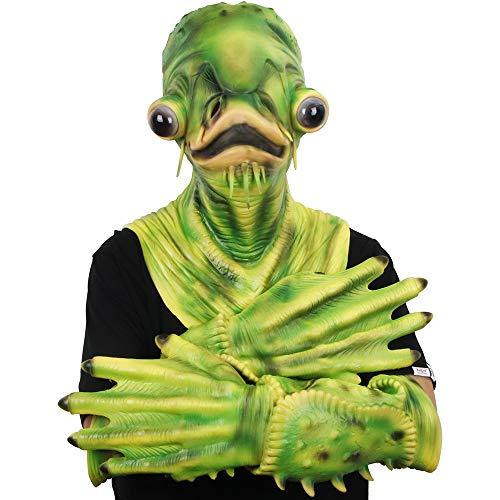 Variante di Halloween Pesce Gatto Diavolo Zombie Elfi Maschera Copricapo Spaventoso e Difficile con...