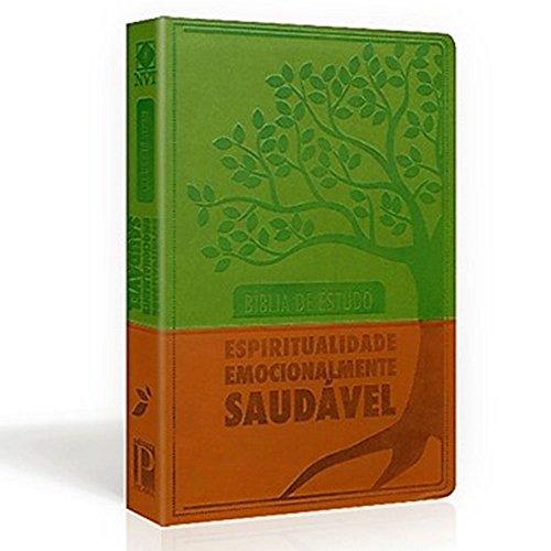 Bíblia De Estudo Espiritualidade Emocionalmente Saudavel Luxo Verde