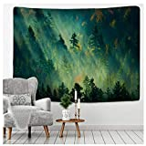 Lmhecyf Tapestry Forest Under Sun Tapestry Wall Hanging Sandy Beach Picnic Rug Camping Tent Sleeping Pad Home Decor Bedspread Sheet Wall Cloth 150X100Cm