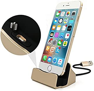 Eximtone Magnetic Charger Dock Station Stand for Apple iPhone/iPod (Gold)
