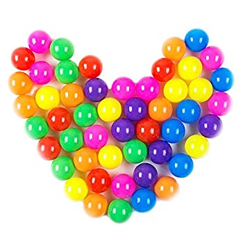 Pit Balls Dadoudou Colorful Fun Phthalate Free BPA Free Crush Proof Balls Soft Plastic Air-Filled Ocean Ball Playballs for Baby Kids Tent Swim Toys Ball Pack of 50