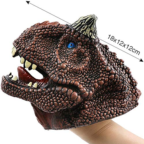 YDOZ Spielzeuge Neu!Weiche Vinylkautschuk Tierkopf Handpuppe Figur Spielzeug Handschuhe for Kinder Modell...