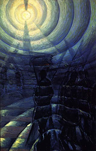 "Luigi Russolo The Solidity of Fog 1912 Private Collection 24"" x 15"" Fine Art Giclee Canvas Print (Unframed) Reproduction"