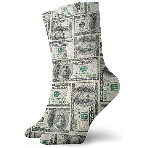 Tammy Jear Paquete de calcetines de vestir para hombre Juego de funda nórdica Money Bills de Estados Unidos Divertidos calcetines de poliéster