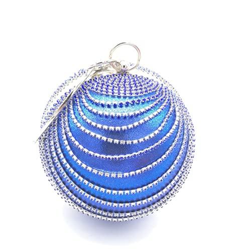 Xingge Bolso de noche con diamantes de imitación de cristal para mujer (blue,One Size)