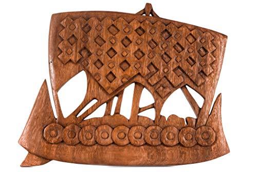 Windalf NORTHRI - Barco Vikingo (Madera, 25 cm)