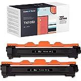 SWISS TONER 1000 Páginas TN1050 TN-1050 Cartuchos de tóner Compatible con Brother TN1050 para MFC-1810 DCP-1510 HL-1110 DCP-1512 MFC-1910 HL-1112A HL-L1210 HL-L1212 DCP-1610 DCP-1612 Impresora,2Negro