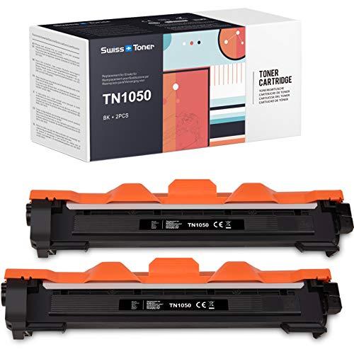 SWISS TONER 1000 Páginas TN1050 TN-1050 Cartuchos de tóner Compatible con Brother TN1050 para MFC-1810 DCP-1510 HL-1110 DCP-1512 MFC-1910 HL-1112A HL-L1210 HL-L1212 DCP-1610 DCP-1612 Impresora