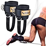 VAIIO Ankle Straps for Cable Machines,Adjustable Comfort fit Neoprene, Reinforce Double D-Ring – Premium Ankle Cuffs to Improve Abdominal Muscles, Lift The Butts, Tone The Legs for Men & Women