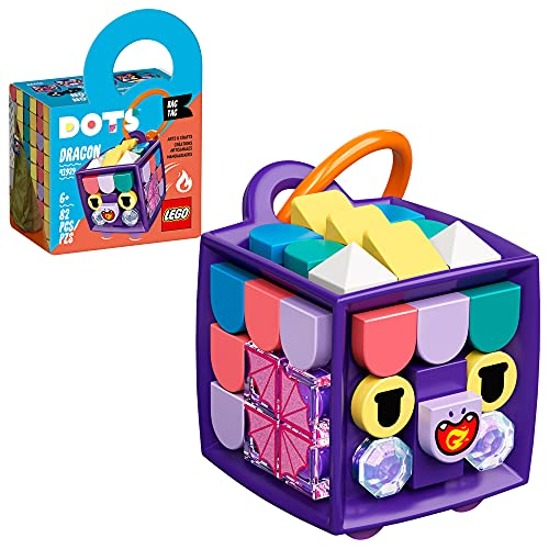 LEGO DOTS Bag Tag Dragon 41939 DIY Craft Decoration Kit  A Great Creative Fun Set for Kids who Love Animal Toys  New 2021 (82 Pieces)