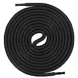 Mount Swiss runde Premium-Schnürsenkel für Arbeitsschuhe Wanderschuhe und Trekkingschuhe - 100% Polyester - extrem reißfest - ø 5 mm - Farbe Schwarz Länge 120cm