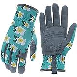 Baidast Gardening Gloves for Women,Breathable Leather Work Gloves with Deerskin Suede,Thorn Proof Gloves for Yark/Garden Medium