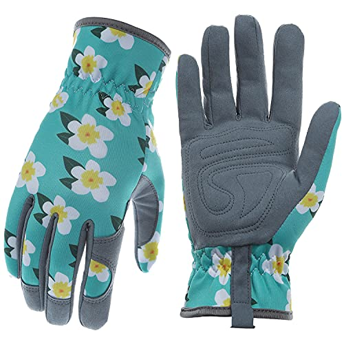 Baidast Gardening Gloves for Women,Breathable Leather Work Gloves with Deerskin Suede,Thorn Proof...