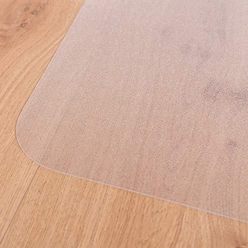 Certeo Tapis protège-Sol | LXL 92 x 122 cm | Pet | pour sols durs | Transparent | Tapis de Bureau Protection Sol Chaise à roulettes télétravail