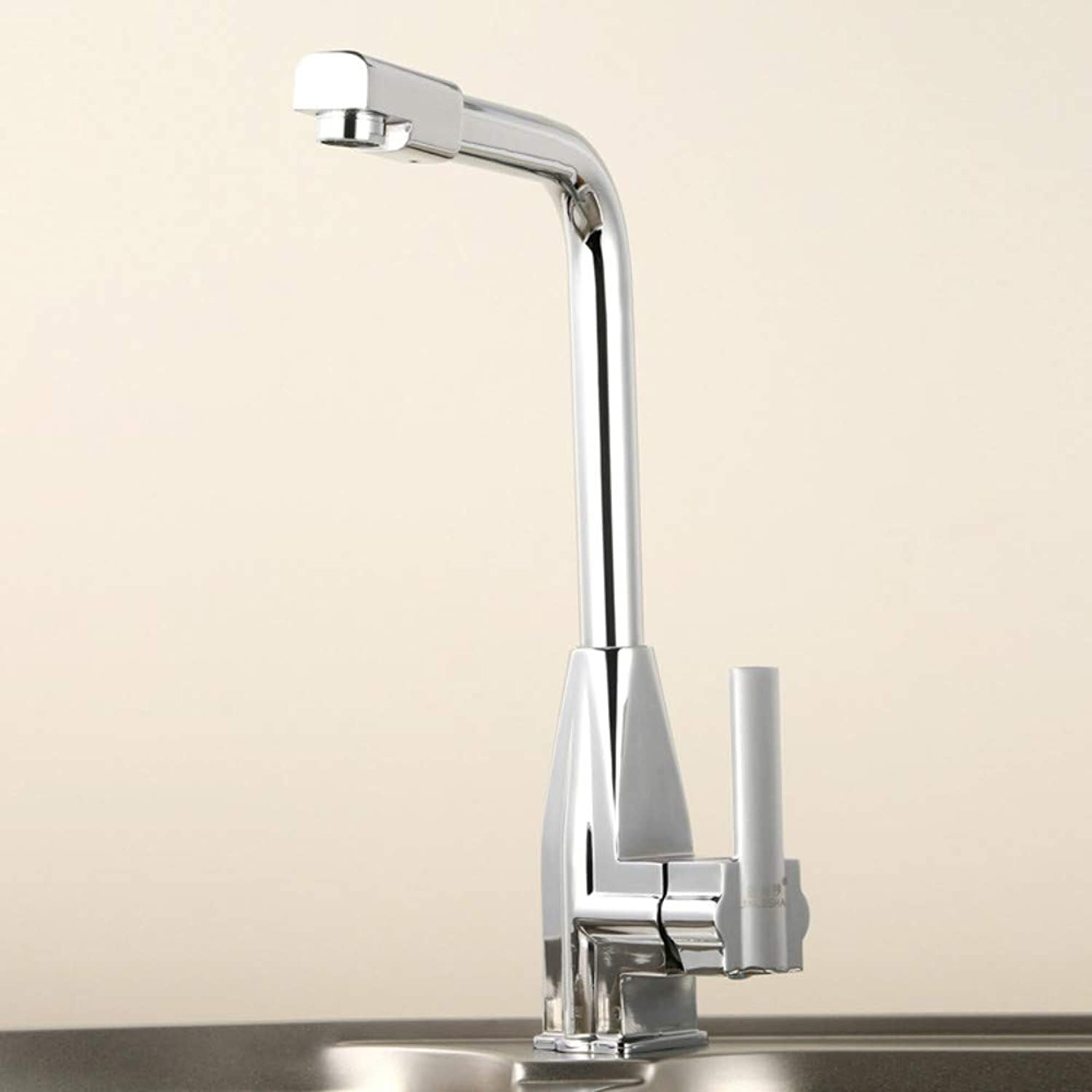 Kitchen Sink Faucet High-End Dual-Use Kitchen Hot and Cold Water Faucet 360 ° redating Copper Basin Faucet Sink Sink Faucet