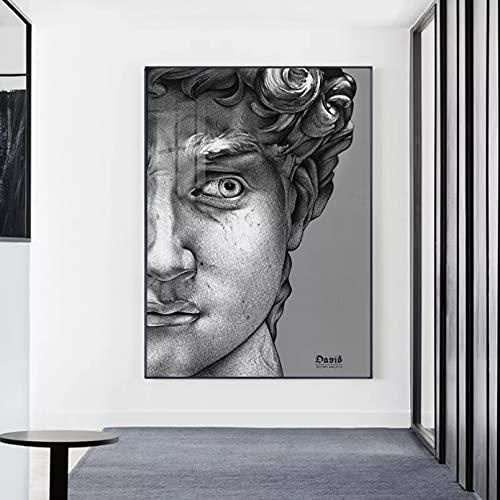 WenBo Pittura Decorativa Moderna Scultura in Gesso David Canvas Painting Poster e Stampa Figura Wall...