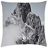 LESGAULEST Throw Pillow Cover (24x24 inch) - Pointe Noire De Peuterey The Mont-Blanc Massif