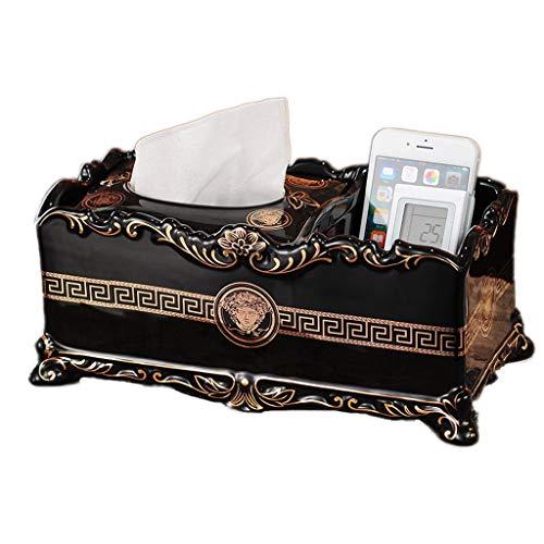 GWF Tissue Box Tissue Holder, Home Wohnzimmer Esszimmer Couchtisch Luxus Geschenk Kosmetik Taschentuch Box Keramik (Farbe : Multi-Purpose)