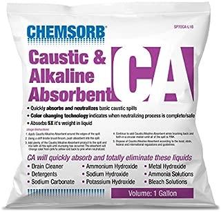 CHEMSORB CA - Caustic & Alkaline Neutralizing Absorbent, 1 Gal. Bag, SP70CA-L1B, Fast-Acting Base Neutralizer Absorbent, Safe Color Changing Technology, Silica Free Neutralizer of Caustic Alkalines