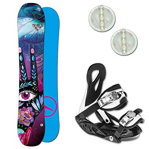 Unbekannt Trans LTD Girl Kinder Snowboard Set ~ 120 cm + ELFGEN JUNIOR BINDUNG + PAD