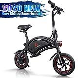 urbetter Bicicleta Electrica Plegable, Ruedas de 12' Inflables Urbana E-Bike, 25km/h, 23 Km Alcance, Control de App, Patinete Electrico con Asiento Ajustable para Adultos