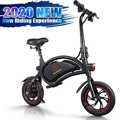Bicicletta Elettrica Pieghevole, Bici Elettrica Adulto E-Bici, Potenza 250 W, Autonomia 23km, velocità Massima 25 km/h, Monopattino Elettrico 12 Pollici Pneumatici Gonfiabili