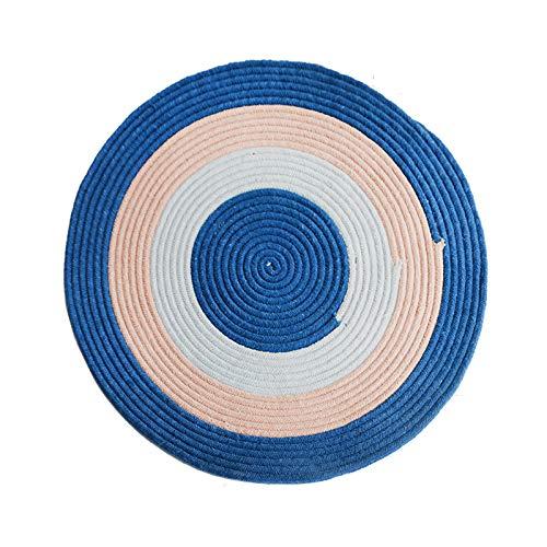 Alfombrilla para puerta redonda de tejido de 80 cm de diámetro, antideslizante, duradera, resistente a las manchas, alfombras de piso de color sólido para dormitorio, sala de estar, mesa de centro