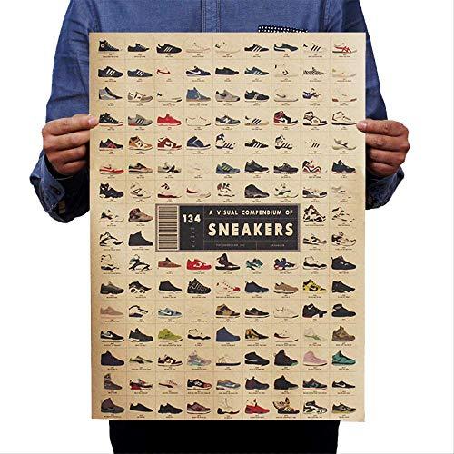 Classic Poster Sneakers Collection Nostálgico Vintage Kraft Paper Home Dorm Room Bars Cafe Retro Decorativo Etiqueta De La Pared