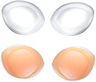 LLMoon Silicone Bra Pads Inserts, Transparent Cleavage, Enhancing Breast Pads(2 Pairs)
