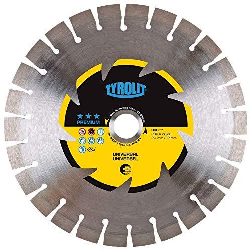 Tyrolit 464544 Diamant-Trennscheibe Premium DCU, Baumaterialien, 230 mm x 2.4 mm/12 mm