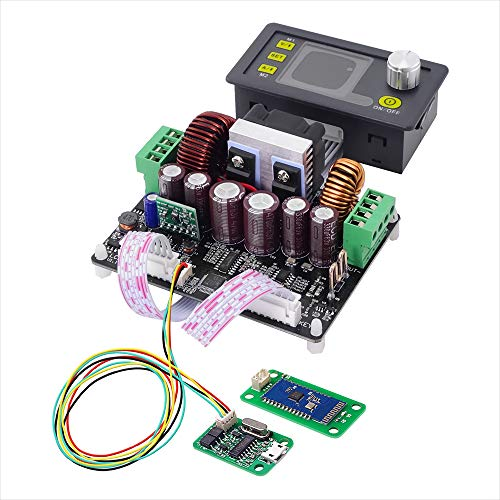 ARCELI Convertidor Buck-Boost Corriente de Voltaje Constante Control Digital programable Fuente de alimentación LCD voltímetro de Color 50V 5A (DPH5005 + USB + BT)