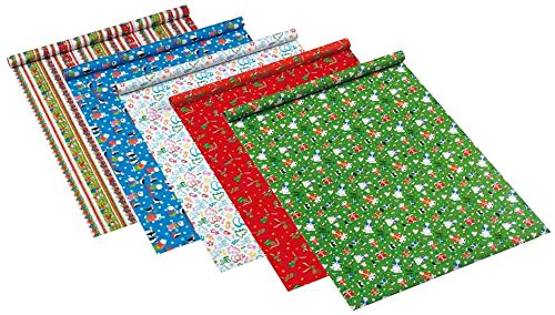 Susy Card 11103728 Weihnachts-Geschenkpapier, 2m, 10 Motive sortiert - keine Motivauswahl möglich!, 1 Rolle