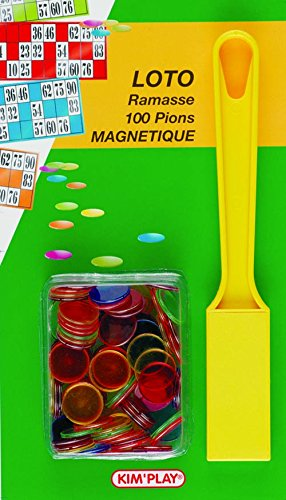 KimPlay - Grands Classiques - Ramasse + 100 Pions Marque Loto Magnetiques