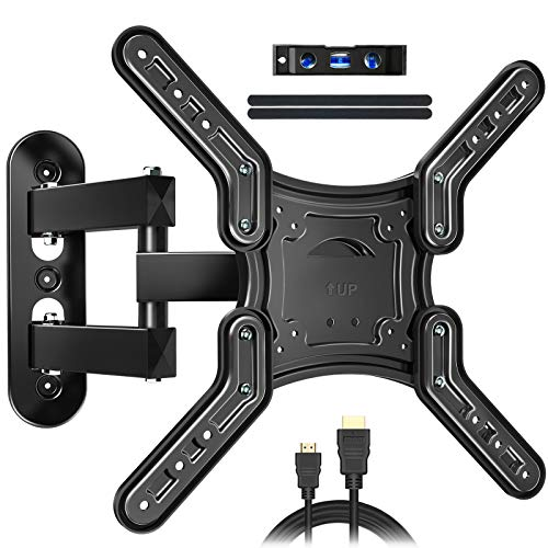 JUSTSTONE Full Motion TV Wall Mount for Most 26-60 Inch LED, LCD TVs, Tilt TV Bracket with Swivel Articulating Arms, up to VESA 400x400mm and 88 lbs, Easy Center Design TV Mounts .