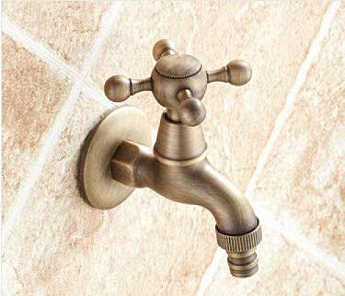 BEISUOSIBYW Co.,Ltd Grifo de jardín Grifos de Bronce Antiguos para jardín Grifo de Pared de baño para Exterior Grifo de jardín