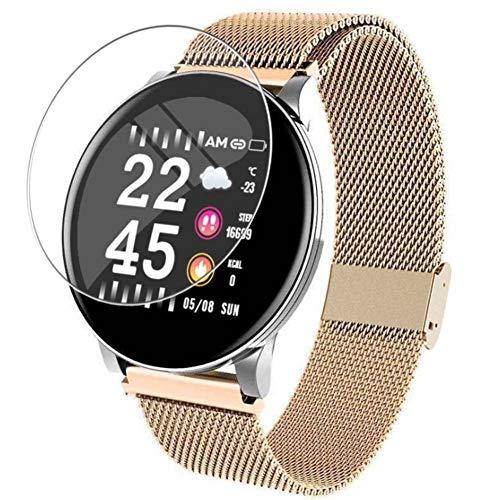 Vaxson 3 Stück 9H Panzerglasfolie, kompatibel mit Smartwatch smart watch W8 Panzerglas Schutzfolie Displayschutzfolie Bildschirmschutz Intelligente Uhr Armband Smartwatch