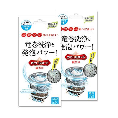 スマートマットライト 洗濯槽クリーナー カビトルネード 縦型用 2個セット