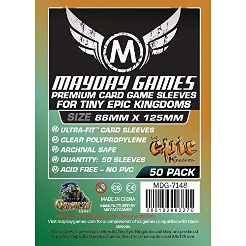 50 Mayday 88 x 125 Tiny Epic Kingdoms Premium Card Sleeves Board Game - Brettspiel Hüllen