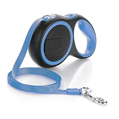 JackWish Einziehbare Hundeleine, 5m Roll-Leine Einziehbare Hundeleine, Spazier Joggen Ausbildung Gürtel für Kleine Mittlere Hunde bis Max 25kg mit Griff und EIN-Knopf-Bremse (Blau)