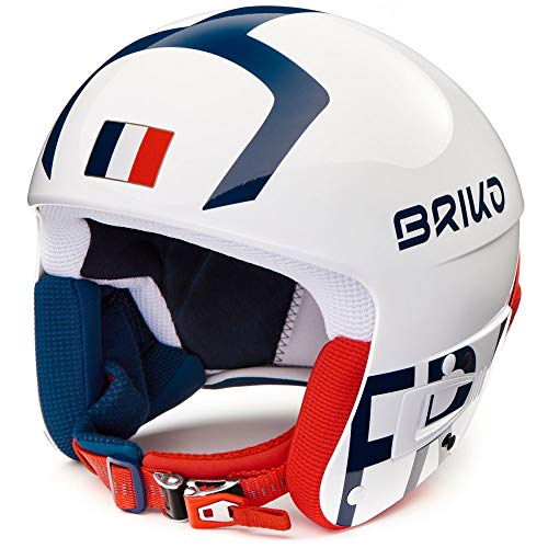 Briko Vulcano Fis 6.8 France - Casco de esquí para Hombre, Color Azul y Rojo