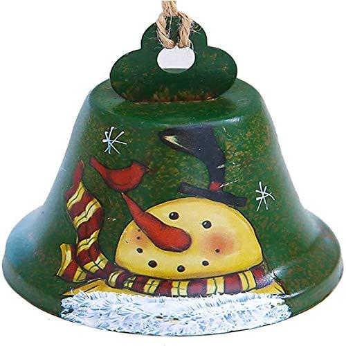 Esissenils Campanelli Decorativi in Metallo con Ciondolo in Ferro di Natale per Decorazioni per Alberi di Natale
