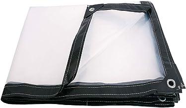 LIXIONG dekzeil voor buiten, transparant, verdikt winddicht, regenbestendig PE-doek, 16 maten (kleur: helder, grootte: 3x10m)
