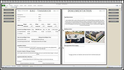 Digitales Bautagebuch Software für Bauführer und Bauherren Handbuch zur Dokumentation nach HOAI Vorlage am Bau für Bauberichte Bauherrentagebuch. Geschenkidee für Bauherren