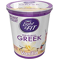 Light & Fit by Dannon Greek Nonfat Yogurt, Vanilla, Gluten-Free, 32 oz.