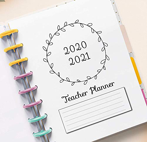 2020-2021 Teacher Planner Kit for 11 Disc Big Planners, Lesson Planner, School Planner Inserts, Academic Planner 2020 2021, 11-Disc Planner, 8.5 x 11 Letter Size Teacher Planner for 11-Ring Minimalist