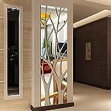 I3C Adhesivo decorativo para pared con espejo de árbol 3D, extraíble, para decoración del hogar, acrílico