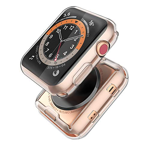 [2-Pack] Piuellia Transparent Case for Apple Watch Series 6 / SE / Series 5...